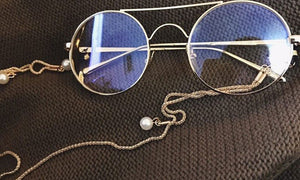 Fashion and Stylish Pearl Detailed Sunglasses Chain