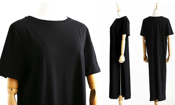 Fashion Round Neck Casual Shirt Dress For Daily Casualwear