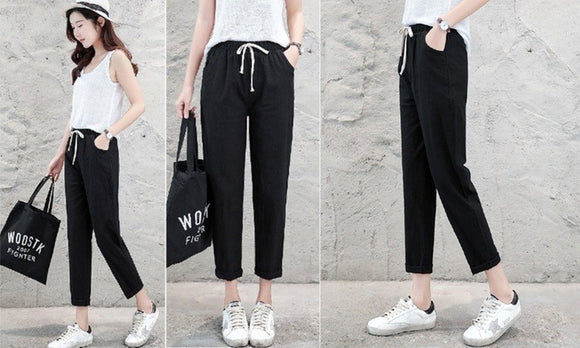 Fashion Casual Drawstring Pants For Summer Casualwear