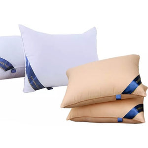 100% Cotton & Polyester Fibre Soft Hotel Grade Standard Quality Sleeping Pillow