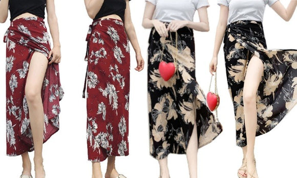 Fashion Floral Printed Long Beach Skirt For Summer Casualwear