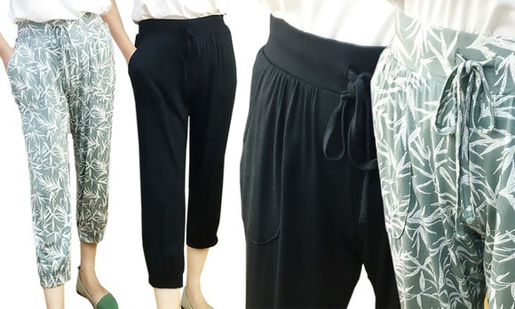 Stylish Women's Comfortable Cropped Pants For Daily Casualwear
