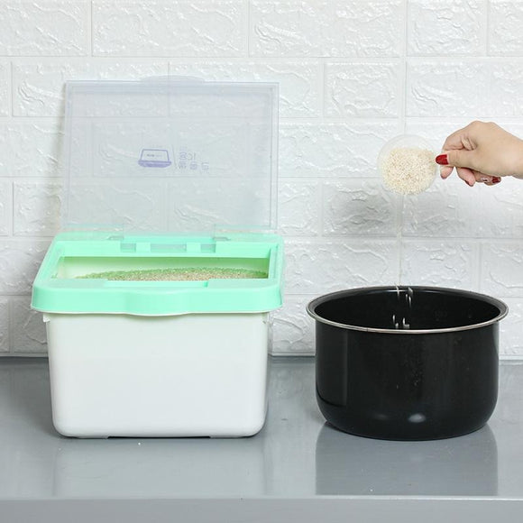10KG Food Grade PP Rice Storage Rice Box Dispenser Ceral Storage Box