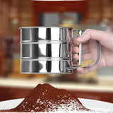 Stainless Steel Flour Sifting Sifter Sieve Strainer Cake Baking Mesh Tool Kitchen Set