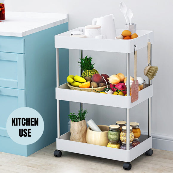 3 Tiers Kitchen Bathroom Rack Wide And Slim Space Saver Storage Shelf