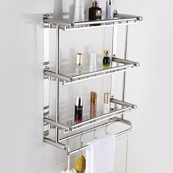 3 Tiers Stainless Steel Bathroom Shelves Toilet Shelf Bathroom Rack