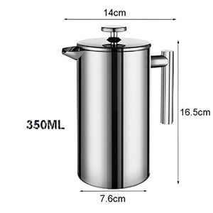 French Press Coffee Maker Stainless Steel Coffee Percolator Pot,Double Wall & Large Capacity Manual Cafetiere Coffee Containers