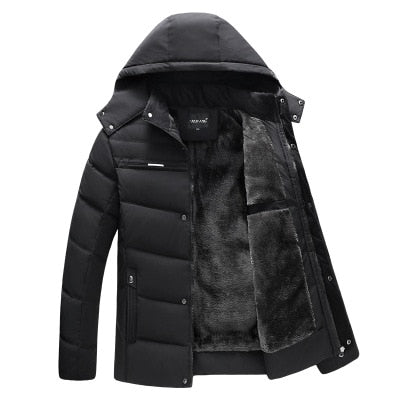 Winter Casual Hooded jacket men's warm cotton jacket Down jacket