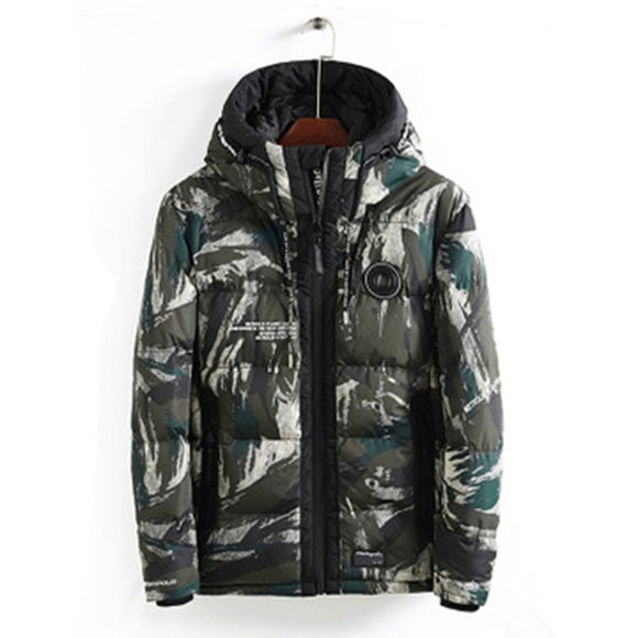 2020 new autumn and winter new tide casual men's hooded fashion camouflage cotton warm jacket