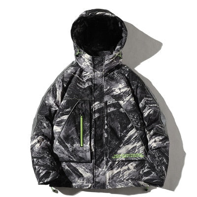 2020 New Korean Camo Men's New Thicken Down Jacket Hooded Winter Men's Casual Cotton Jacket Trend