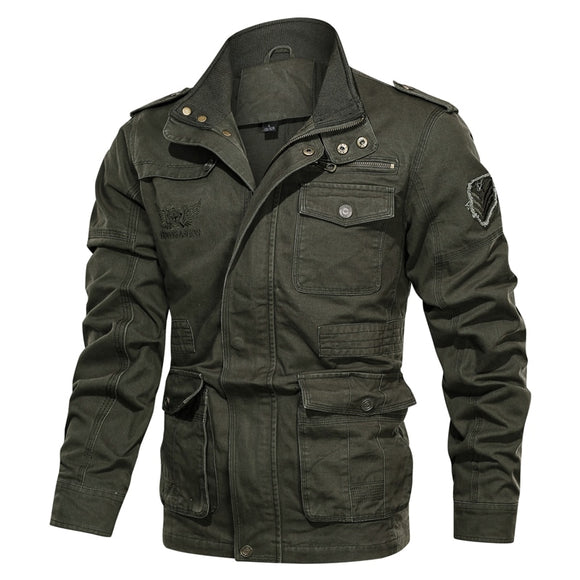 Men Autumn Winter Military Jacket Army Bomber High Quality Jackets Male Fashion Casual Cargo Coat Multi-pocket Big Size clothing