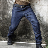 Army Tactical Denim Jeans Men Military Special Force Flexible Trousers Multi-Pocket Casual Cargo Jeans Male Durable Work Pants