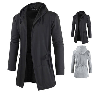 2020 Spring And Autumn Fashion Casual Men Korean-style Mid-length Hoodie Cardigan Coat