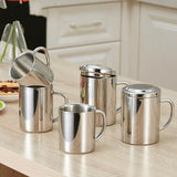 304 Stainless Steel Mouth Cup with Lid Mug   Children's   wine tumbler  travel mug  coffee cups  tea