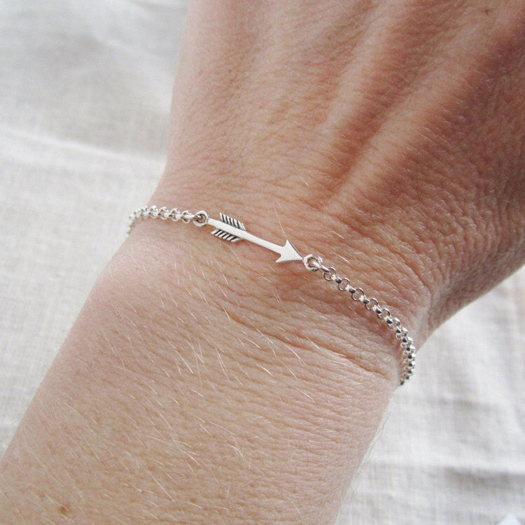 twisted bracelet chic omni silver bangle arrow
