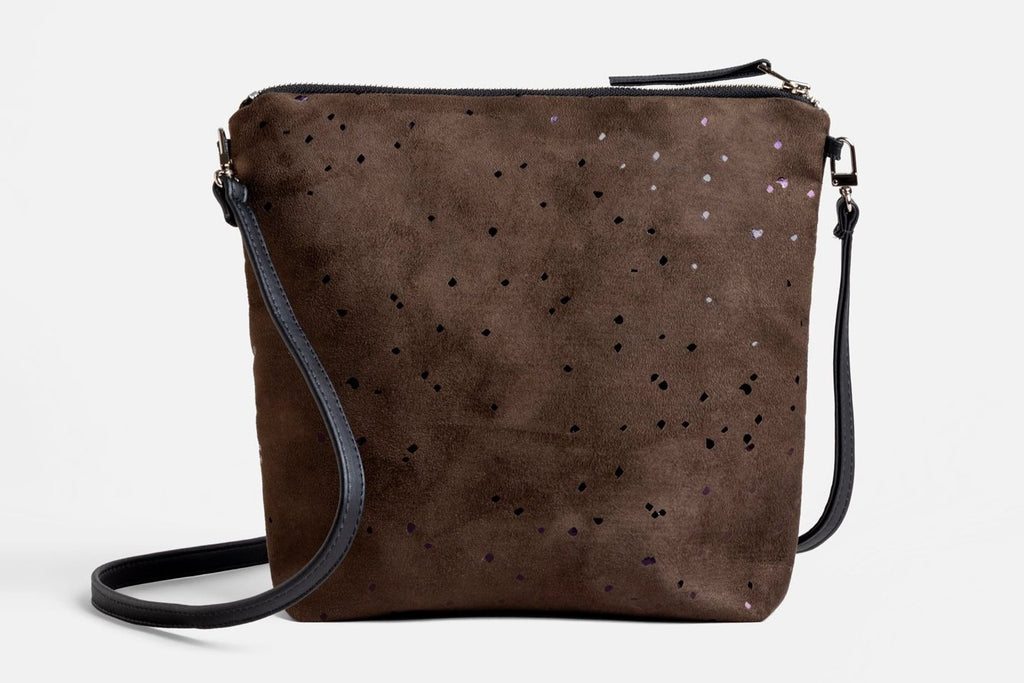 Everything Confetti Crossbody Bag in Chocolate Brown