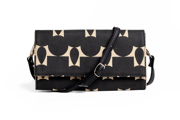 Totem Black Wallet and Crossbody