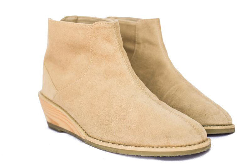 Wedge Bootie in Sahara