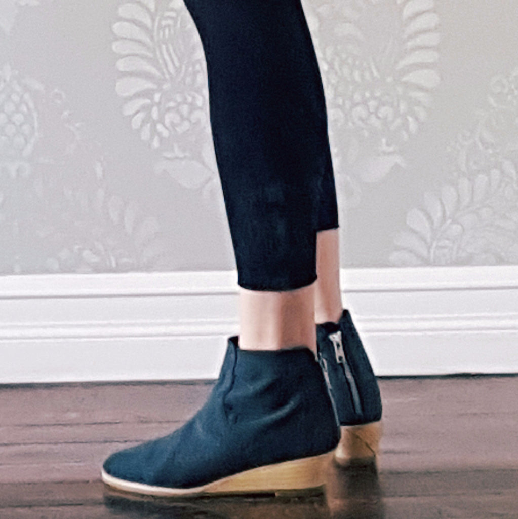 Wedge Bootie in Charcoal