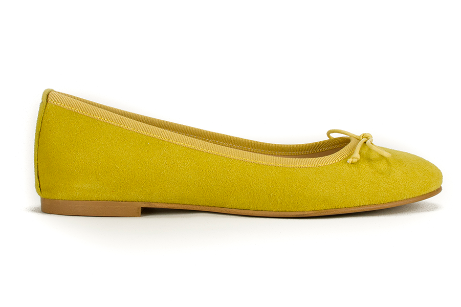 Vegan Ballerina Calipso Flats in Yellow