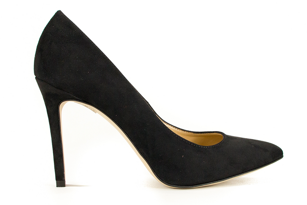 Black Vegan Decollete Heels