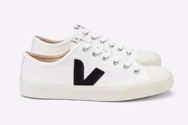 Veja White with Black Vegan Sneaker