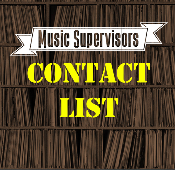 Music Supervisors Contact List