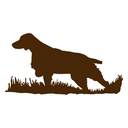 Brittany Bird Dog Silhouette, Upland Hunting Decal