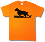 Bird Dog Profile Upland Hunting Blaze Orange Short Sleeve T-shirt - Modern Wild
