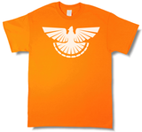 """Thunder Grouse"" Ruffed Grouse Hunting, Blaze Orange Short Sleeve T-shirt - Modern Wild"