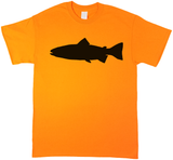 Trout Profile, Fly Fishing, Blaze Orange Short Sleeve T-shirt - Modern Wild