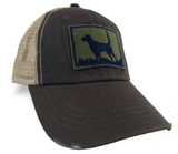 English Setter (high tail) Silhouette, Bird Dog Upland Hunting Trucker Cap