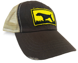 Bird Dog Silhouette, Brown Upland Hunting Trucker Cap