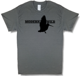 Modern Wild Woodcock Profile, Upland Hunting Charcoal Gray Short Sleeve T-shirt - Modern Wild
