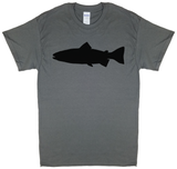 Trout Profile, Fly Fishing, Charcoal Gray Short Sleeve T-shirt - Modern Wild