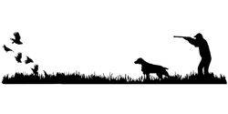 Brittany Bird Dog, Quail Rise Upland Hunting Scene Decal