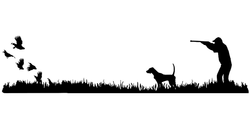 English Pointer Bird Dog, Quail Rise Upland Hunting Scene Decal