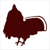 Ruffed Grouse Standing Strutter, Ruffed Grouse Hunting Decal