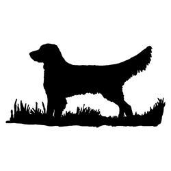 Golden Retriever Bird Dog Silhouette, Upland Hunting Decal