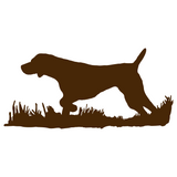 German Shorthair Pointer Bird Dog Silhouette, Upland Hunting Decal