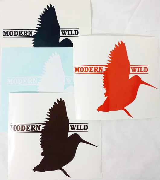 Modern Wild Logo Woodcock Hunting Decal - Modern Wild