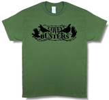 "Quail ""Covey Busters"" Olive Green, Short Sleeve Hunting T-Shirt - Modern Wild"