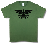 """Thunder Grouse"" Ruffed Grouse Hunting, Olive Green Short Sleeve T-shirt - Modern Wild"