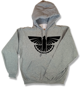 """Thunder Grouse"" Profile Upland Hunting Oxford Oxford Gray Hooded Sweatshirt - Modern Wild"