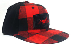 Trout Profile, Buffalo Plaid, Flex-Fit Flatbill Fly Fishing Cap - Modern Wild