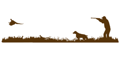 Brittany Bird Dog, Rooster Pheasant Upland Hunting Scene Decal