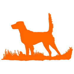 English Setter (high tail) Bird Dog Silhouette, Upland Hunting Decal