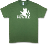 "Arizona ""Covey Country"" State Quail Hunting Short Sleeve T-shirt"