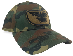 Thunder Grouse, Woodland Camo, Cloth Back Ruffed Grouse Hunting Cap