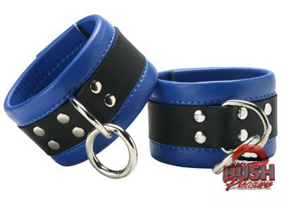 Blue Mid-Level Leather Restraint